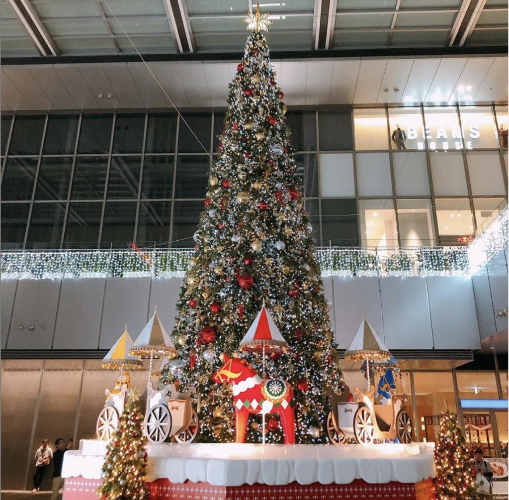 名古屋駅のクリスマスツリー